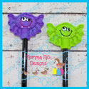 2 Piece Spider Pencil Topper Set