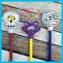 3 Piece Halloween Pencil Topper Set 2