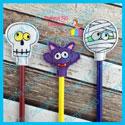 3 Piece Halloween Pencil Topper Set 2