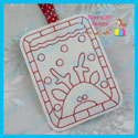 Reindeer Color Me Tag/Gift Card Holder