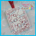 Santa Color Me Tag/Gift Card Holder
