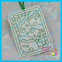 Gingerbread Color Me Tag/Gift Card Holder
