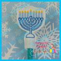 Menorah Pencil Topper