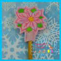 Poinsettia Pencil Topper