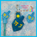 Dreidel Feltie, Pencil Topper, Snap Tab Bundle