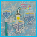 Menorah Feltie, Pencil Topper, Snap Tab Bundle