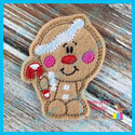Bobble Head Gingerbread Feltie/Ornament