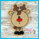 Bobble Head Reindeer Feltie/Ornament