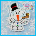 Bobble Head Snowman Feltie/Ornament