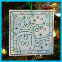 Penguin 2 Color Me Ornament