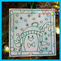 Penguin 3 Color Me Ornament
