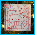 Snowman 1 Color Me Ornament