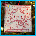 Snowman 2 Color Me Ornament