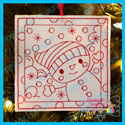 Snowman 3 Color Me Ornament
