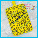 Hanukkah Color Me GiftTag/Ornament