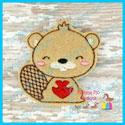 Valentine Beaver Feltie