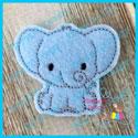 Baby Elephant Feltie