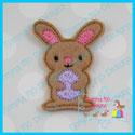 Bunny With Egg Feltie