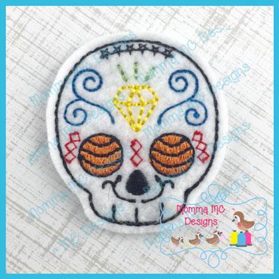 Sugar Skull 2 Feltie