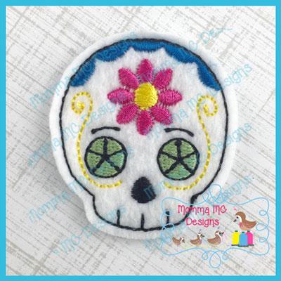 Sugar Skull 4 Feltie