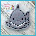 Roly Poly Shark Feltie