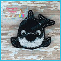 Roly Poly Orca Feltie