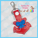 Anchor with Bow Snap Tab