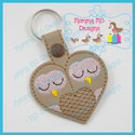Heart Owls Snap Tab