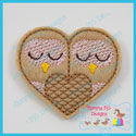 Heart Owls Feltie