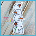 Snowman Stack Book Mark