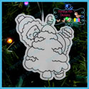 Santa's Antics 3 Color Me Ornament Redwork