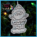 Santa's Antics 4 Color Me Ornament Redwork