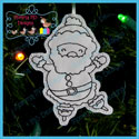 Santa's Antics 6 Color Me Ornament Redwork