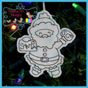 Santa's Antics 7 Color Me Ornament Redwork