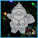 Santa's Antics 8 Color Me Ornament Redwork
