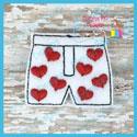 Heart Boxers Feltie