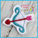 Valentine Bow and Arrow Feltie
