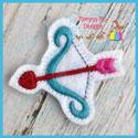 Valentine Bow and Arrow Feltie