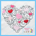 Swirls & Hearts Vintage Stitch Embroidery