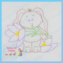 Spring Bunny 1 Color Work Embroidery File