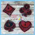 Card Symbol Felties 1 - Set of 4