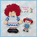Girl Rag Doll Set 4x4