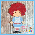 Girl Rag Doll Set 5x7