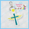 Cross with Wings Snap Tab