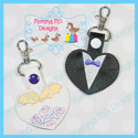 Bride and Groom Hearts Snap Tab Set