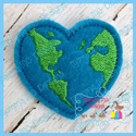 Heart Earth Feltie
