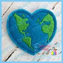 Heart Earth Feltie