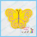 Swirl Butterfly 1 Feltie