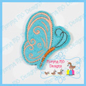 Swirl Butterfly 2 Feltie