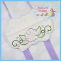 Floral Pocket Hair Bow Planner Clip Keeper